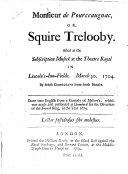 Monsieur de Pourceaugnac, Or, Squire Trelooby