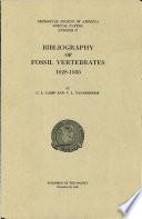 Bibliography of Fossil Vertebrates 1928  1933