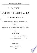Ahn's Latin Vocabulary for Beginners by Franz Ahn PDF