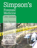 Simpson S Forensic Medicine 13th Edition
