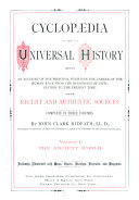 Cyclop  dia of Universal History  The ancient world