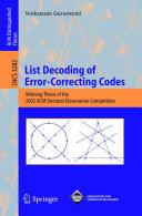 List Decoding of Error Correcting Codes