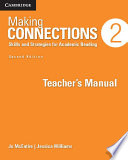 Making Connections Level 2 Teacher's Manual  : Skills and Strategies for Academic Reading , Band 2
