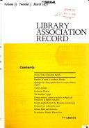 Library Association Record ebook