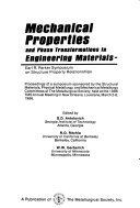 Mechanical Properties and Phase Transformations in Engineering Materials