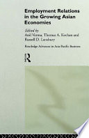 Employment Relations in the Growing Asian Economies Book