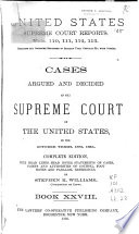 Cases Argued and Decided in the Supreme Court of the United States ...