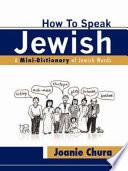 How to Speak Jewish