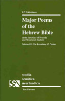 Major Poems of the Hebrew Bible: The remaining 65 Psalms