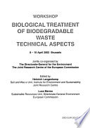 Biological Treatment of Biodegradable Waste, Technical Aspects