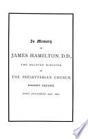 In Memory of James Hamilton  D D