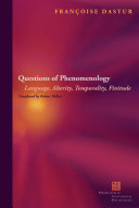 Pdf Questions of Phenomenology Telecharger