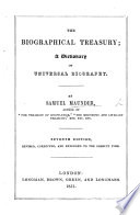The Biographical Treasury  Fifth edition  with a supplement Book