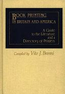 Book Printing In Britain And America