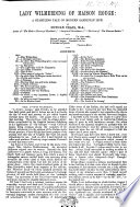 Lady Wilmerding of Maison Rouge  a startling tale of modern Sardinian life