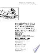 Fourteenth Seminar on the Acquisition of Latin American Library Materials