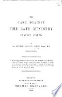 The Case Against the Late Ministry Plainly Stated     Second Edition
