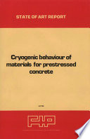 Cryogenic behaviour of materials for prestressed concrete