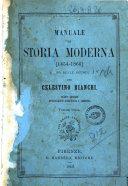 Manuale di Storia moderna 1454-1866