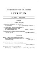 University of West Los Angeles Law Review