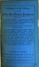 Catalogue Of The Library Of John Scribner Jenness