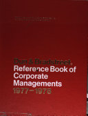 Dun & Bradstreet Reference Book of Corporate Managements