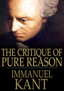Pdf The Critique of Pure Reason