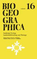 Landscape Ecology/Landschaftsforschung und Ökologie