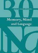 Memory  Mind and Language