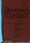 Acoustics Letters Book