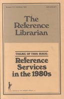 Reference Services In The 1980s