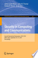 Security in Computing and Communications Book