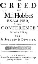 Pdf The Creed of Mr. Hobbes Examined