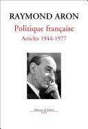 Pdf Politique française Articles 1944-1977 Telecharger