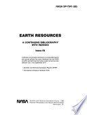 Earth Resources: A Continuing Bibliography with Indexes (issue 59)