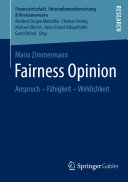 Fairness Opinion