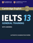 Cover of Cambridge IELTS 13 General Training Student's Book with Answers