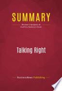 Summary Talking Right