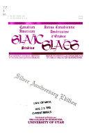 Canadian American Slavic Studies