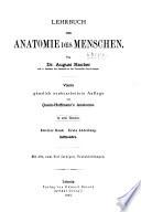 Lehrbuch Der Anatomie Des Menschen Book