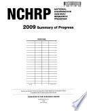 Summary of Progress - National Cooperative Highway Research Program
