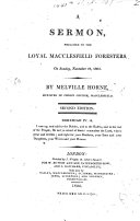 A sermon on Nehemiah iv  14 preached to the Loyal Macclesfield Foresters     Nov  27  1803