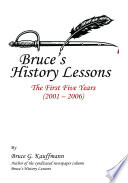 Bruce s History Lessons Book