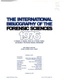 The International Bibliography of the Forensic Sciences Book
