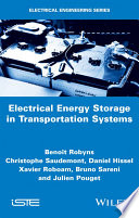 Electrical Energy Storage in Transportation Systems Book