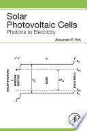 Solar Photovoltaic Cells Book