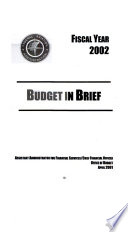Department Of Transportation And Related Agencies Appropriations For 2002 2002 Budget Justifications