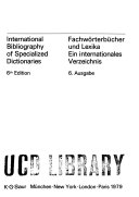 International Bibliography Of Specialized Dictionaries