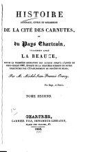 Histoire générale, civile et religieuse de la cité des Carnutes