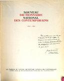 Nouveau dictionnaire national des contemporains